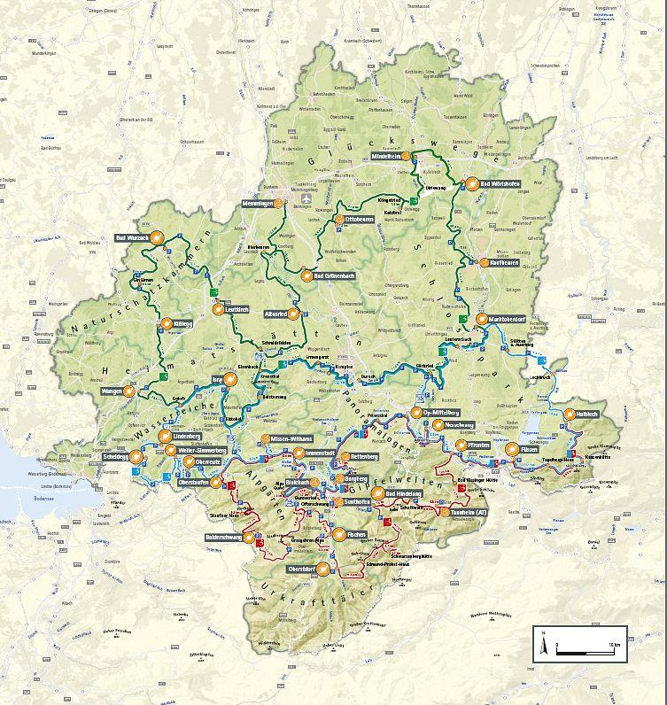 Karte Fur Wandertrilogie Allgau Deutschlands Schonste Wanderwege